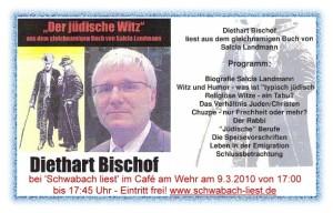 Diethart Bischof liest in Schwabach