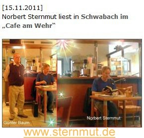 Norbert Sternmut am Wehr