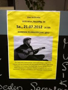 Dominik Plangger at B-mäx , Vienna, 21.7.12