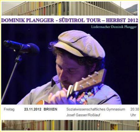 Dominik Plangger - live in Brixen