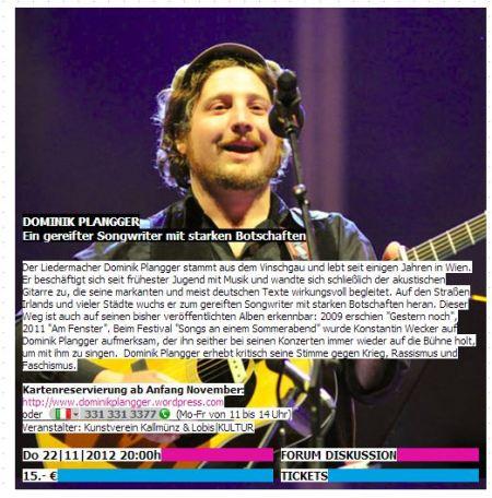 Dominik Plangger - live in Bruneck im November 2012